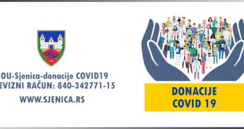 Namjenski račun za  donacije u borbi protiv pandemije COVID- 19