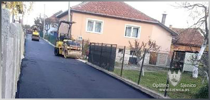 Asfaltiran krak Jablaničke ulice
